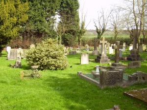 Graves in St. Giles Churchyard